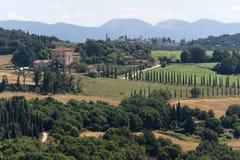 ландшафт umbria Италии amelia Стоковая Фотография RF
