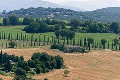 ландшафт umbria Италии amelia Стоковые Фото