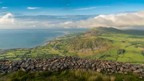 Ландшафт Welsh на полуострове Llyn Стоковые Фото
