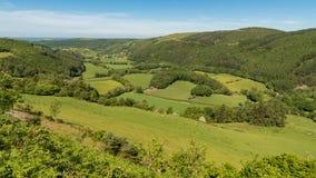 Ландшафт Welsh около arian Nant Yr, Великобритании Стоковые Фото