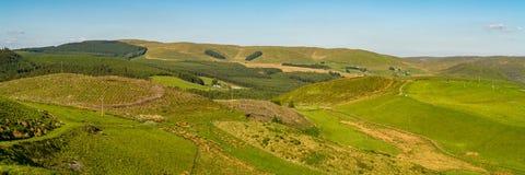 Ландшафт Welsh около Cwmystwyth Стоковые Фотографии RF