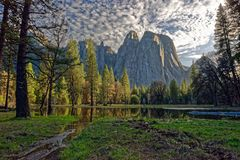 Ландшафт Yosemite стоковая фотография
