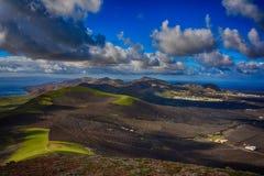 Лансароте, вулканы Стоковая Фотография
