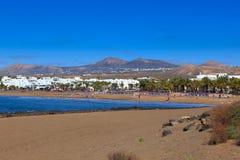 Лансароте имеет много и красивые пляжи Стоковые Изображения RF