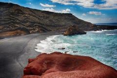 Лансароте El Golfo Стоковое Изображение