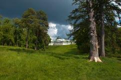 Ландшафтный парк дворца в зоне Kachanovka Чернигова имущества Стоковое Изображение