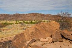 Ландшафты африканца - Damaraland Намибия Стоковое фото RF