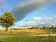 Ландшафты Германии - поля в центральной Германии Стоковые Изображения
