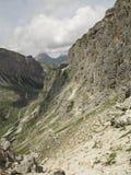 Ландшафты гор доломитов, Corvara Alta Badia, Италия Стоковое Изображение RF