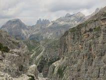 Ландшафты гор доломитов, Corvara Alta Badia, Италия Стоковое Фото