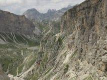 Ландшафты гор доломитов, Corvara Alta Badia, Италия Стоковая Фотография RF