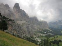 Ландшафты гор доломитов, Corvara Alta Badia, Италия Стоковая Фотография