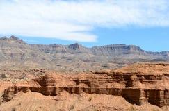 Ландшафты на дороге парома Pierce, Meadview Национальный парк грандиозного каньона, Аризона стоковые изображения rf