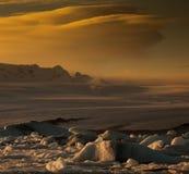 Ландшафты дня Исландии Стоковые Фотографии RF