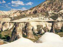 Ландшафты Cappadocia, центральной Турции Стоковые Изображения