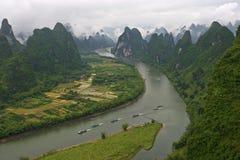 Ландшафты Guilin Стоковое Изображение RF