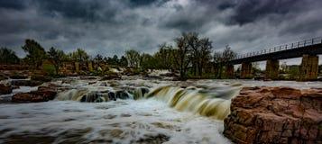 Ландшафты Sioux Falls Южной Дакоты Соединенных Штатов Стоковые Фото