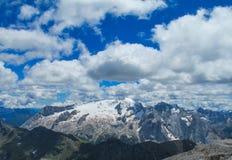 Ландшафт Альпов доломита скалистый Стоковые Изображения