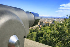Ландшафт Барселоны от montjuic стоковое фото rf