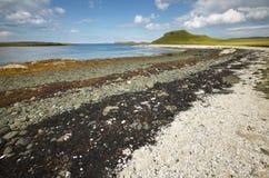 Ландшафт береговой линии в острове Skye Шотландия Великобритания Стоковое Фото