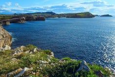 Ландшафт береговой линии Кантабрии Стоковые Изображения RF