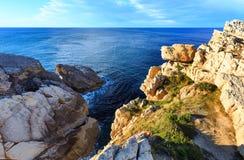 Ландшафт береговой линии Кантабрии Стоковое Изображение RF