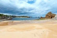 Ландшафт береговой линии пляжа Arnia Стоковая Фотография