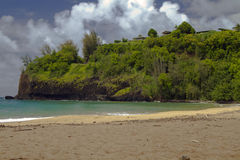 Ландшафт бечевника Кауаи, Гаваи Стоковые Изображения RF