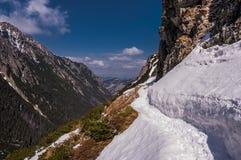 Ландшафт весны горы панорамы Стоковые Изображения RF
