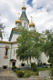 Ландшафт весны русской церков Стоковое фото RF