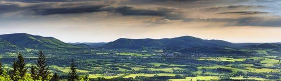 Ландшафт весны Panoramatic Стоковое Изображение