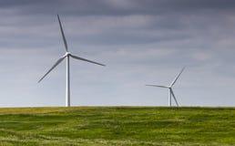 Ландшафт ветровой электростанции Стоковые Изображения