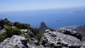 Ландшафт, взгляд океана от горы Стоковое фото RF