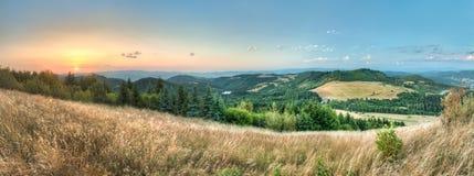 Ландшафт, взгляд от Paradajs к горе Vtacnik Стоковая Фотография