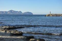 Ландшафт вида на море Мальорки Стоковые Фото