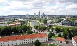 Ландшафт Вильнюса, Литвы Стоковые Изображения RF