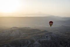 Ландшафт воздушного шара Турции горячий принятый в Cappadocia Стоковые Изображения