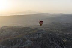 Ландшафт воздушного шара Турции горячий Стоковые Фотографии RF