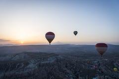 Ландшафт воздушного шара Турции горячий Стоковые Фото