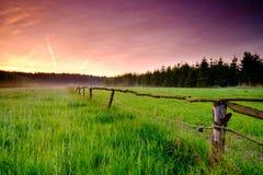 Ландшафт восхода солнца весны Стоковое Изображение