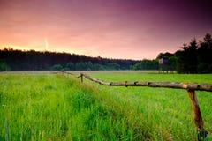 Ландшафт восхода солнца весны Стоковая Фотография RF