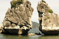 ландшафт Вьетнам halong залива Стоковые Изображения
