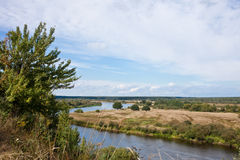 Ландшафт в августе. Долина Berezina реки. Стоковое Фото