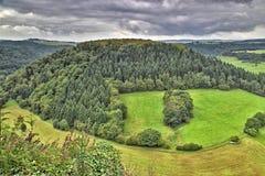 Ландшафт в Западной Германии Стоковая Фотография RF