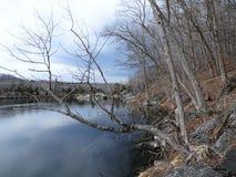 Ландшафт в марте на Widewater Стоковые Изображения RF