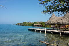 Ландшафт в островах Rosario, около Cartagena de Indias, Cari Стоковая Фотография