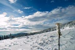 Ландшафт в прикарпатских горах Стоковые Изображения RF