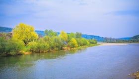 Ландшафт в прикарпатском около реки Стоковое Изображение RF