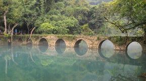 Ландшафт в пятнах zhangjiang libo сценарных, guinzhou, фарфор стоковое изображение