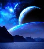 Ландшафт в планете фантазии бесплатная иллюстрация
